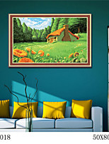 DIY Digital Oil Painting  Large Size Without Frame  Family Fun Painting All By Myself     Fairy Tale Cottage 6018