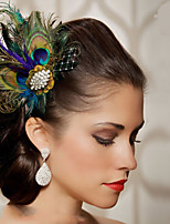 Hand Made Wedding Feather Hair Fascinator Headpieces Fascinators 004
