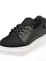 Calçados Femininos Tule/Courino Plataforma Plataforma/Arrendondado Sapatos para Esportes Ar-Livre/Casual Preto/Branco