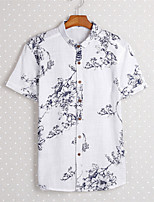 Men's   Fashion  casual  short sleeved shirt      Top  Tops Type (Fabric)