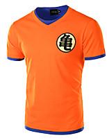 JOGAL Men's Casual/Work Print Short Sleeve Regular T-Shirt (Cotton/Polyester)