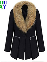 ZAY Women's Winter Fashion Long Sleeve Trench Coat