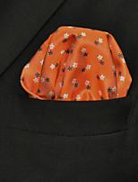 Men's Casual Dots Orange  Pocket Square
