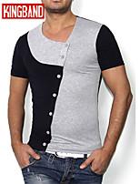 Men's Casual/Sport Short Sleeve Regular T-Shirt (Cotton Blend) KB7B07