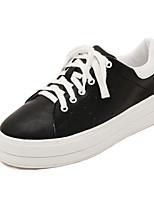Scarpe Donna - Sneakers alla moda - Tempo libero - Comoda - Piatto - Finto camoscio - Nero / Rosso / Bianco