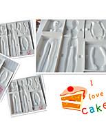 donna di modo strumenti di torta al corpo dello stampo di cioccolato cucina bakeware cottura decorazione di modellazione (colore casuale)