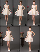 Mix & Match Dresses Short/Mini Chiffon 5 Styles Bridesmaid Dresses (3789824)