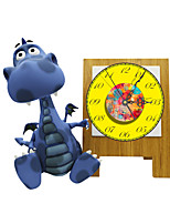 Modern 3D Effect Teacher Dinosaur Wall Clock 17.8*15.75 inch / 45.2*40cm