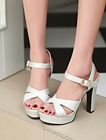Women's Shoes Stiletto Heel Platform/Open Toe Sandals Wedding/Party & Evening/Dress Blue/Pink/Silver/Gold
