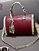 Handcee® Hot Selling Fashion Leopard Handle Woman PU Fashion Crocordile Tote Bag