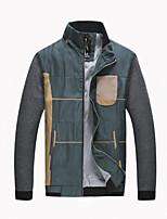 RUILIKE®Men's Casual Plus Sizes Plaids & Checks Long Sleeve Regular Jacket (Cotton)