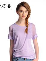 ZOX004®Women's Sexy/Casual Micro-elastic Short Sleeve Regular T-shirt