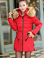 Women's Long Sleeve Parka Coat Casual Work Cashmere