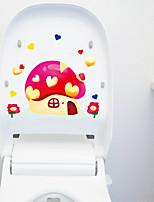 Love Mushroom Toilet Stickers
