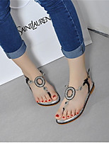 Women's Shoes  Flat Heel Open Toe Sandals Casual Black/Silver