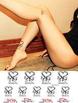 Playful Love Butterfly Knot Tattoo Stickers Temporary Tattoos(1 Pc)