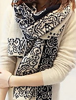 Women Longer Autumn Winter Wool Scarf of Blue And White Porcelain