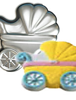 FOUR-C Baby Carriages Shape Aluminum Cake Baking Pan Mold, Baking Supplies for Cakes,Baking Mold Bakeware Metal
