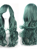 Harajuku Wavy Dark Green Pelucas Sex Synthetic Lolita Anime Wig Cheap Cosplay Hair Wigs Long Curly For Women wigs
