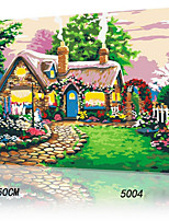 DIY Digital Oil Painting With Solid Wooden Frame Family Fun Painting All By Myself     Fairy tale Cottager 5004