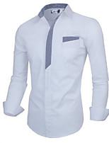 Men's Casual Long Sleeve Regular Shirt (Cotton)