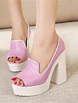 Women's Shoes Leather Platform Platform Sandals Casual Pink/White