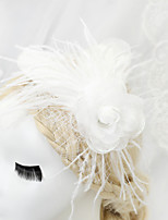 Women's/Flower Girl's Chiffon/Net Headpiece - Wedding/Special Occasion Flowers 1 Piece