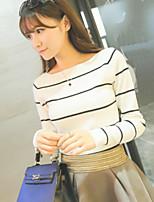 Women's Spring New All Match Stripe Long Sleeve T-shirt