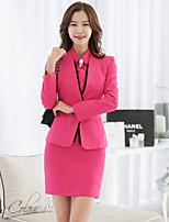 xiw&F Women's Casual/Work/Plus Sizes Fashion Slim Long Sleeve Blazer