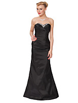 Floor-length Taffeta Bridesmaid Dress -Sheath/Column Strapless