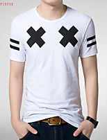 2015 Quality Cotton Men's Short Sleeve T-Shirt printing Hot Sell