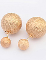 Women's Fine Grind Arenaceous  Alloy Stud Earrings