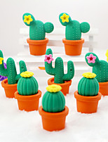 Cute Fancy Student Cactus Eraser Novelty Kids Toy  School Stationery Rubber (Random Color)