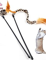 FUN OF PETS® Cute Leopard Print Pattern Cloth Playing Stick for Pet Cats