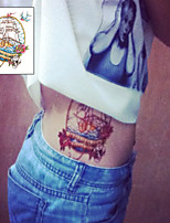 Pirate Boat Skull Head Sailor Tattoo Stickers Temporary Tattoos(1 Pc)