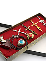 Fate Stay Night Saber Contract Necklace&Ring Cosplay Accessories 7PCS