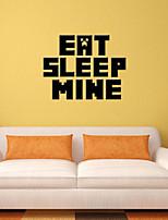 3d adesivos de parede parede estilo decalques comer mina sono palavras inglesas&cita parede adesivos pvc