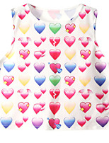 Women's About Love Heart Printed Crop Top