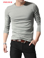 85% Cotton 2015 Men Long Sleeve Sport Men T-Shirt Size M-3XL