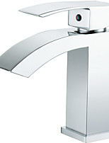 Single Handle Waterfall Lavatory Faucet Chrome