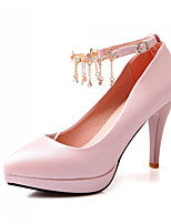 Women's Shoes Synthetic Chunky Heel Heels/Basic Pump Pumps/Heels Office & Career/Dress/Casual Blue/Pink/White