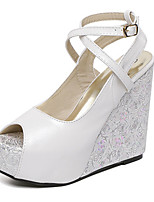 Women's Shoes Wedge Heel Wedges Sandals Casual Blue/White