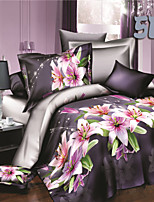 Purple Polyester King Duvet Cover Sets