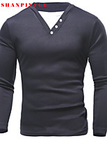 2015 Men Leisure Long-sleeved T-shirt