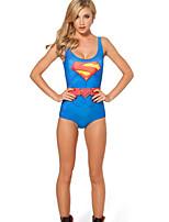 Super Hero Supergirl Swimwear Cosplay Costumes