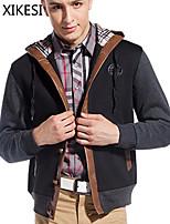 Men's Casual/Work Long Sleeve Regular Jacket (Cotton Blend) XKS7F05