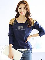 Standard - Undurchsichtig - Leger - T-Shirt ( Baumwolle )