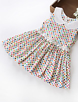 Girls  Lovel Dot Colorful Collar Party Birthday Holiday Baby Kids Clothing  Dress