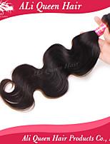 Ali produtos de cabelo rainha 6a brasileira onda corpo cabelo virgem naturais pretas cabelo 1pcs / lot 100% extensões de cabelo humano