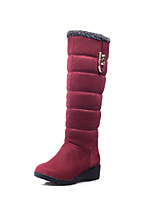 Women's Shoes Low Heel Snow Boots/Round Toe Boots Office & Career/Dress/Casual Black/Brown/Red